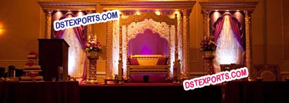 Asian Muslim Wedding Gold Stage
