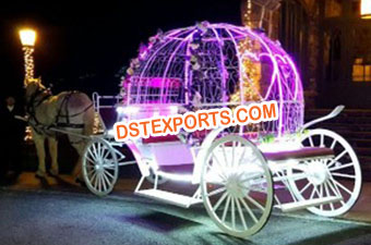 Wedding Lighted Cinderella Horse Carriage
