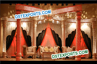 Majestic Fiber Crystal Pillars Butterfly Stage Set