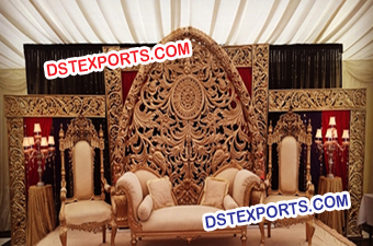 Fiber Heavy Carving Panels Stage Set