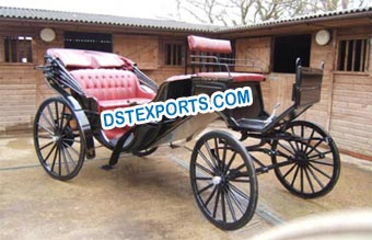 Classic Voiture Vis Vis Horse Carriage