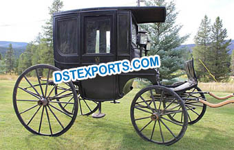 Historic Covered Wedding  Horse Carriage