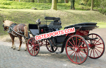 Royal Wedding Black Horse Carriage