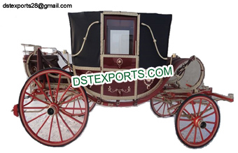 Elegant Covered Horse Drawn Buggy