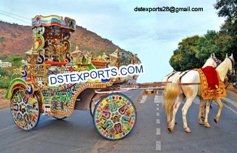Colourful Decorated Horse Drawn Baghi