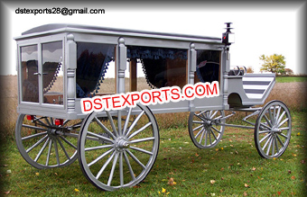 Silver Funeral Horse Drawn Carriage