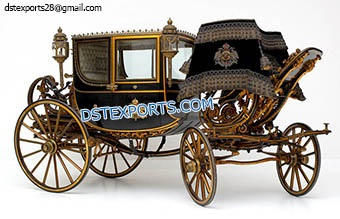 Black Royal Horse Drawn Couch