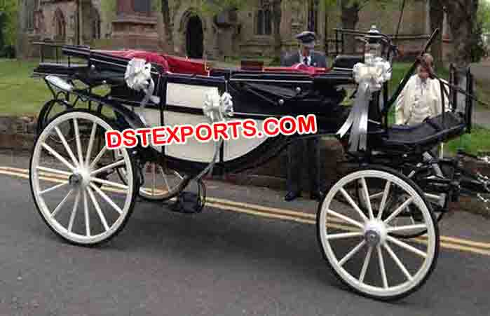 Two Seater Wedding Horse Drawn Carriages