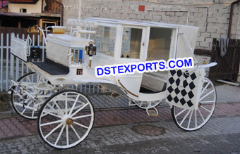 White Covered Horse Carriage Buggy