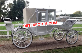 White Box Type Horse Drawn Carriage