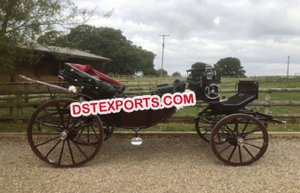Black Horse Drawn Carriage Buggy