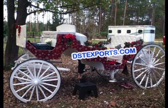 White Wedding Horse Drawn Carriages