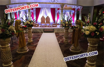 Fiber Wedding Mandap Set