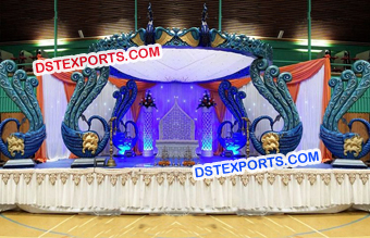 Peacock Theme Wedding Mandap Decors