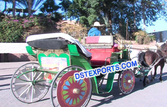 Wedding Decorated Horse Buggy Carriage