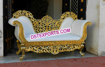 Indian Wedding Gold Carved Sofa 2018