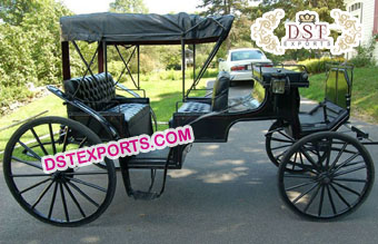Black Victoria Horse Drawn Carriages For Sale