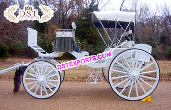 Beautiful White Two Seater Carriage