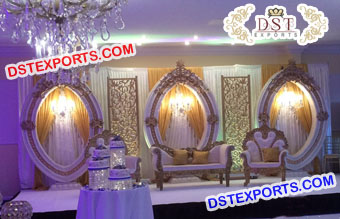 Best Event Fiber Carved Oval Panels Stage