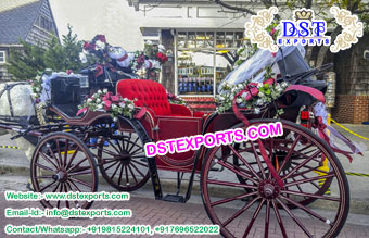 Exclusive Wedding Victoria Horse Carriages