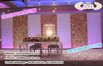 Best Wedding Stage Leather Tufted Panels