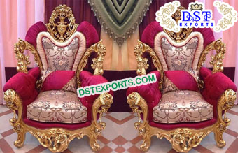 Royal Wedding Bride Groom Chairs USA