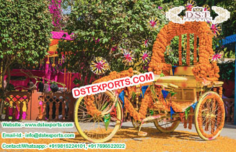 Perfect Bride Groom Entry With Rickshaw