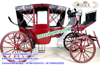 Royal Wedding Horse Drawn Covered Buggy